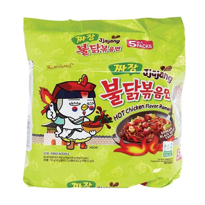 三養辣雞榨醬撈麵(5包裝)